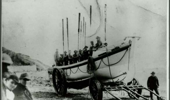 Photograph of Holy Island lifeboat Grace Darling II.