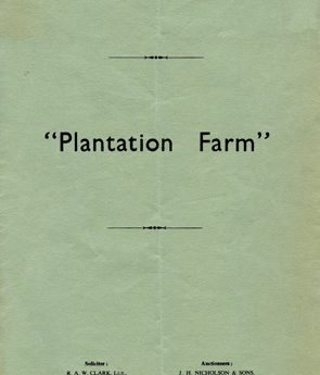 Sale of Plantation Farm Belford 1962