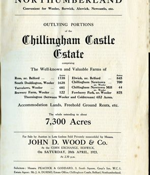 Digital Images of Auction Sales Catalogues and Catalogue Extracts Relating to the Belford and Budle Area