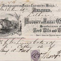 Spindleston Mill Bill of 1871