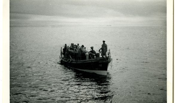 Photograph of Holy Island Lifeboat crew at sea