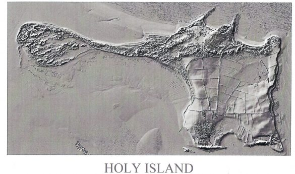 Lidar images of Holy Island