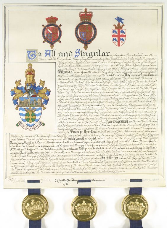 Holy Island Coat of Arms and Letters Patent