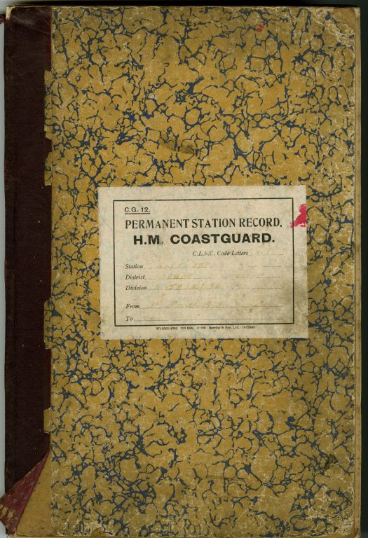 Permanent Station Record H.M. Coastguard Holy Island. Volume 2