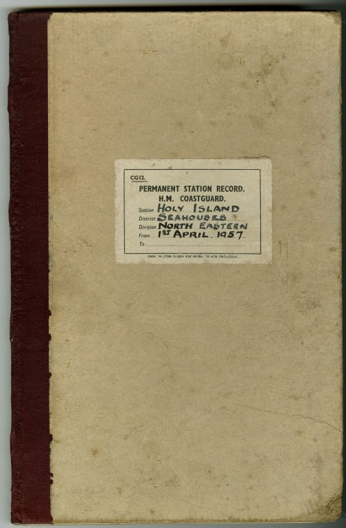 Permanent Station Record H.M. Coastguard Holy Island. Volume 3
