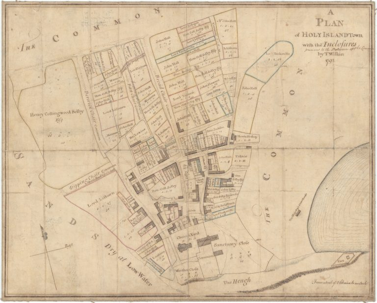 Plan of Holy Island with [ancient] Enclosures; Previous to the Enclosure of the Common. 1792